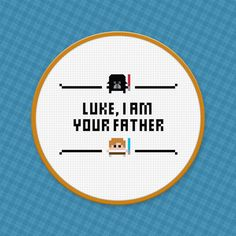 Picture of Star Wars - Luke, I am your father - Cross Stitch Pattern - Free Download