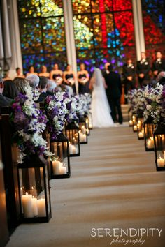 Church wedding decoration ideas wedding ideas for lindsay church wedding decorations the wedding pass is decorated with tall lanterns and lilac flowers serendipity photography another aisle decoration idea junglespirit Images