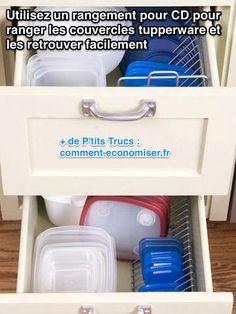 Rangement pour couvercles tupperware