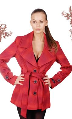 7 Red Leather, Leather Jacket, Winter Coats, Jackets, Fashion, Studded Leather Jacket, Winter Jackets, Down Jackets, Leather Jackets