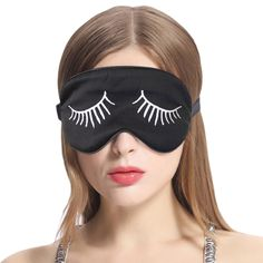 POPZone 100 Pure Natural Silk Sleep Mask Blindfold Super Smooth and Soft Eye Mask with Adjustable Strap Perfect for Traveling Flightor Nap Black *** Be sure to check out this awesome product. (This is an affiliate link) White Eyelashes, Longer Eyelashes, Fake Eyelashes, Cold Eye Mask, Bandage, Mulberry Silk, Sleep Mask, Health And Beauty, Charms