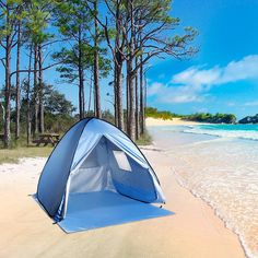 WolfWise Portable UPF 50+ Protection Easy Pop Up Beach Tent Instant Sun Shelter Tent Blue & ShinyFunny Easy Pop Up Beach Tent Instant Sun Shade Shelter ...