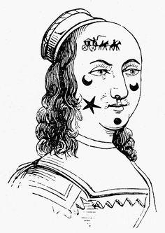 Beauty Spots 17th century by Granger