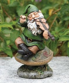 Playing A Violin Gnome !!