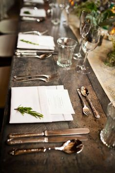 table setting, rustic and elegant