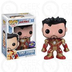 Boneco Tony Stark - Iron Man 3 - Marvel - Funko Pop! Comic Con Edição Limitada 2013 #geekwish