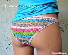 Женские трусики разноцветные, мастер класс