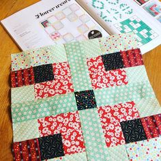 Quilt Now BOM month 3 block by Ceciliainthestable on Instagram