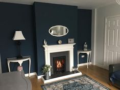 Bedroom Colour Schemes Blue, Living Room Color Schemes, Living Room Colors, Bedroom Colors, Living Room Designs, Bedroom Ideas, Blue Living Room Decor, Living Room White, White Rooms