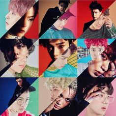 EXO Monster vs Lucky One photoshoots <3