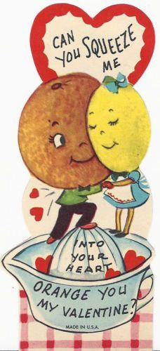 Anthropomorphic 'Squeeze Me' Valentine Card