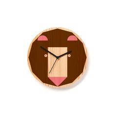 Bjorn Bear Clock  http://www.byshop.co/shop/bjorn-bear-clock