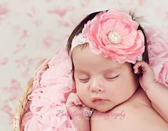 Hey, I found this really awesome Etsy listing at https://www.etsy.com/listing/114561196/baby-headband-newborn-headband-pink