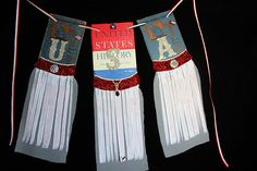 4th of July Banner Wreath Banner Wreath Banner Wreath Vintage