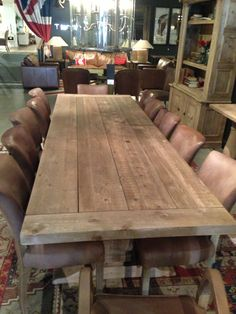 Big wooden dining room table #Homeowner
