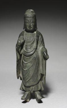 Statue of Buddha, 57 B.C. - A.D. 668  Korea, Old Silla (57 BC - AD 668)  bronze, Overall: h. 18.5 cm
