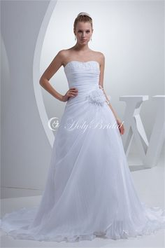 attractive Sleeveless Soft Sweetheart Satin Satin Organza http://www.HolyBridal.com/attractive-Sleeveless-Soft-Sweetheart-Satin-Satin-Organza-p19204.html