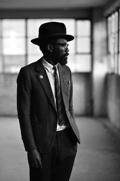 "dpattinson: ""My image of Sam Lambert on Fashion We Like, shot in London at the Farmiloe Building, Photo: David Pattinson "" Urban Fashion, Mens Fashion, Nyc Blog, Beard Styles For Men, Dapper Men, Fashion Project, First They Came, Gentleman Style, Stylish Men"