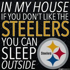 steelergalfan4life  - That's right - GTFO! No blanket or TP! Use leaves!!!