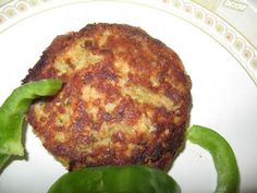Salmon patty - replace sr flour with almond meal and baking powder