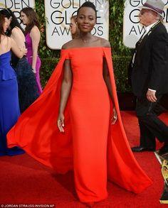 Stunning looks and sleek natural hair at the 2014 Golden Globes - #stunning #naturalhair #lupitahyong #goldenglobes #seriouslynatural - bellashoot.com