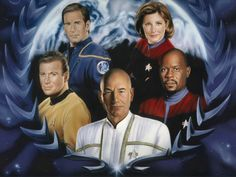 Star Trek Captains--- I love Jean Luc