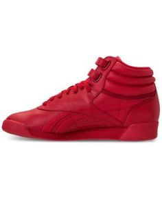 22be8f9bdd21a Reebok Women's Freestyle High Top Spirit Casual Sneakers from Finish Line -  EXCELLENT RED/WHITE 9.5