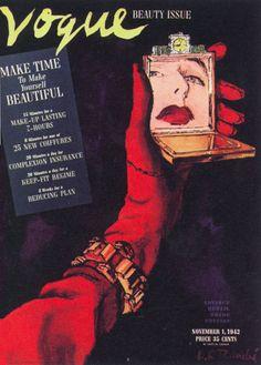 lVogue vintage cover / Illustration by Randie / Nov. 1942