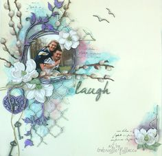 Laugh   Mixed Media Video Tutorial by Gabrielle Pollacco using Shimmerz Paints and Dusty Attic chipboard. #DustyAttic, #ShimmerzPaints, #GabriellePollacco, #MixedMedia,