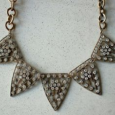 "Triangle crystal layering choker, new necklace 19-21"" new. Will ship out within 1-2 business days. none Jewelry Necklaces"