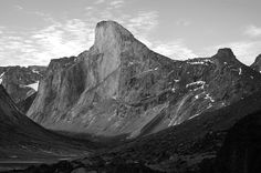 Cliff Sailing --- Mount Thor on Baffin Island, Nunavut. The Earth's greatest purely vertical drop at 1,250 m (4,101 ft), with an average angle of 105 degrees.