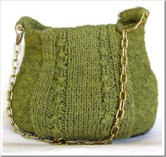 Knitted and Felted purse