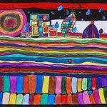 Kunstunterricht in der Grundschule, Klasse 1-6, Kunstbeispiele Klasse 6, Schuljahr 2008-10 - 136s Webseite!