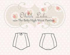 Ohhh Lulu The Betty High Waist Panties PDF Sewing Pattern.