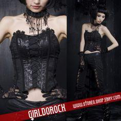 Gothic Lolita PALACE Punk CORSET TOP +SWALLOW Y304 M-XL
