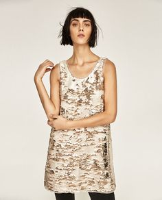 Image 2 of TWO-TONE SEQUIN DRESS from Zara