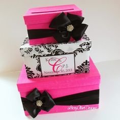 Wedding Card Box Money Box Bridal Shower by LaceyClaireDesigns, $110.00 Sex and the City Inspired