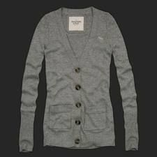 Authentic Abercrombie Evie Gray Cardigan Sweater Size Small
