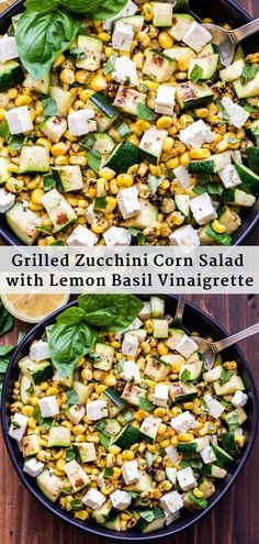 10 Most Misleading Foods That We Imagined Were Being Nutritious! This Grilled Zucchini Corn Salad With Lemon Basil Vinaigrette Is Perfect For Summer Barbecues, Picnics Or Anytime You Need And Easy Side Dish To Serve With Dinner Basil Recipes, Best Salad Recipes, Fruit Salad Recipes, Corn Recipes, Healthy Recipes, Winter Salad Recipes, Recipes Dinner, Summer Recipes, Zucchini Corn Recipe