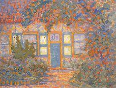 Huisje in het zonlicht Piet Mondriaan