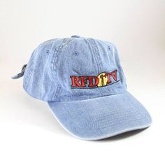 the best attitude 2a588 24dd0 Vintage RFD TV Denim Dad Hat    Unstructured Baseball Cap    Rural  Television Station Hat
