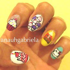 Cake theme nails