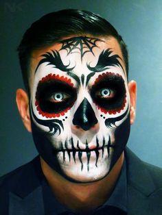 sugar skull makeup for men dia de cultura tradicion calavera catrina day of the death