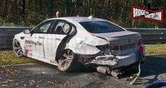 #BMW M5 Ring Taxi crashed on Nurburgring  http://www.4wheelsnews.com/bmw-m5-ring-taxi-crashed-on-nurburgring/