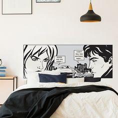 tête de lit BD - Comic - déco bande dessinée - Jolie déco cartoon Sweet Home, Home Decor, Themed Parties, Headboards, Comics, Comic, Bedroom, Home, Decoration Home