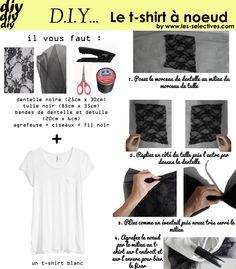 Customiser un t-shirt blanc et en faire un t-shirt à noeud