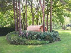 Barrelsauna 420cm lang : een realisatie van 'Saunabarrel by Modis' www.saunabarrel.be