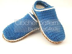 Crochet pattern TODDLER SLIPPERS- 10 sizes: 5 inches to 8 5/8 inches,slippers for kids 1 yo- 10 yo, toddler loafers, crochet scuffs