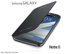 Samsung Flip Cover - Metallic Blue - For Galaxy Note 2