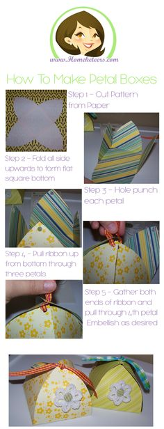 Day 1 of 30 days of crafts for National Craft Month - How To Make Petal Boxes - Easy Tutorial To Follow - 5 Steps